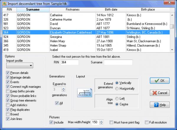 TreeDraw Legacy Import dialog