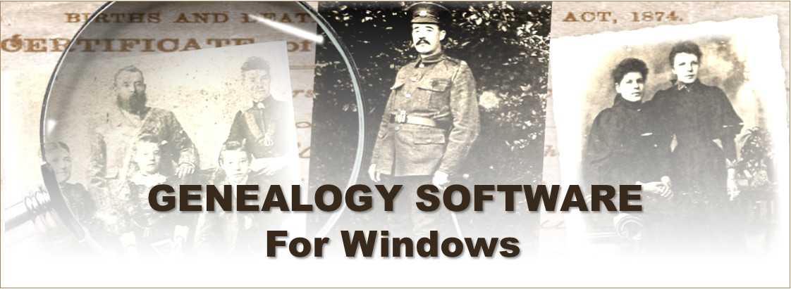 SpanSoft genealogy software for Windows