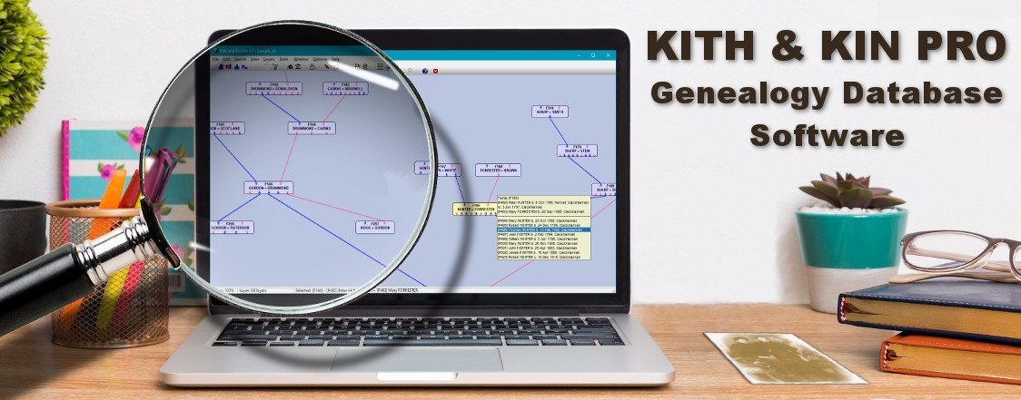 Kith and Kin Pro genealogy database software