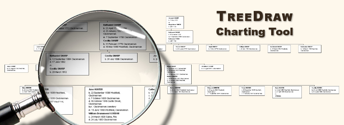 TreeDraw family tree charting software